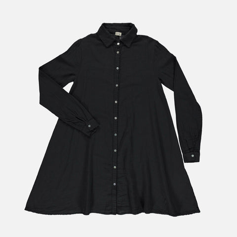 Women's Organic Cotton Chaï Dress - Pirate Black