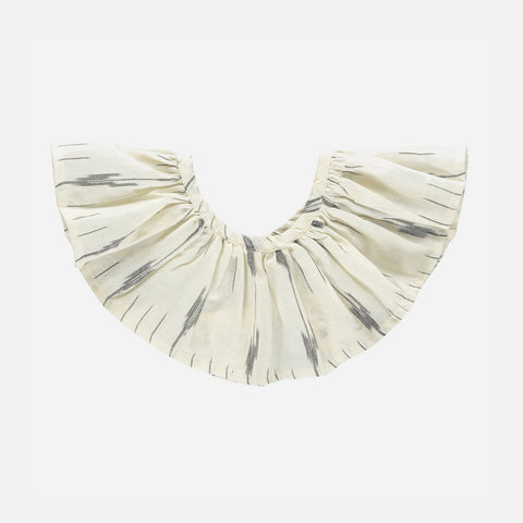 Organic Cotton Columbine Collar - Ecru Ikat