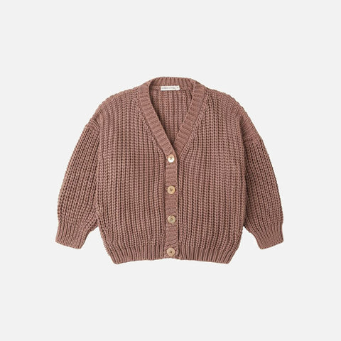 Cotton Chunky Cardigan - Coco