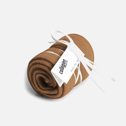Adult Cotton Knee Socks - Caramel