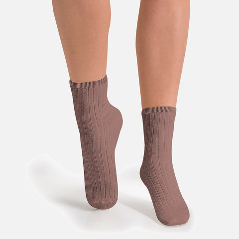 Adult Cotton Short Socks - Praline