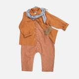 Linen Work Shirt - Rust