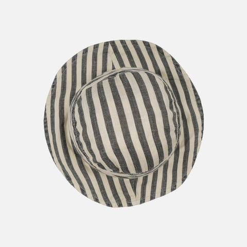 Linen Francis Hat - Flax Stripes