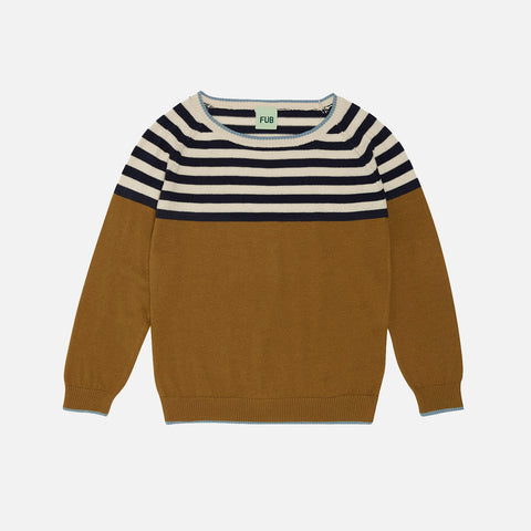 Organic Cotton Contrast Sweater - Sienna