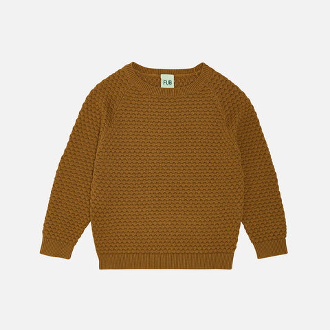Organic Cotton Bubble Sweater - Sienna