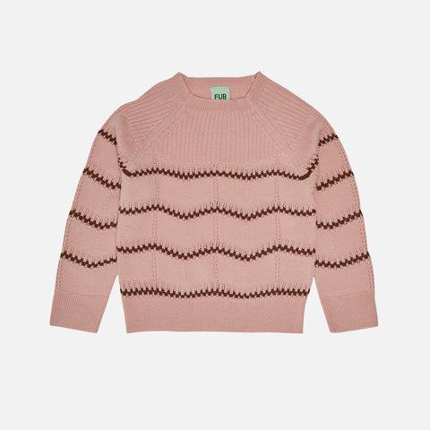 Merino Wool Pointelle Sweater - Pale Pink