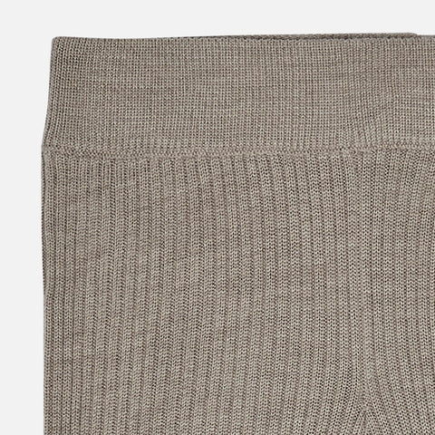 Merino Wool Leggings - Beige Melange