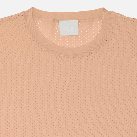 Women's Organic Cotton Pointelle Tee - Rose