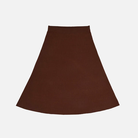 Women's Merino Wool Skirt - Umber