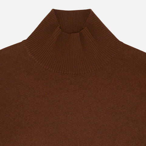 Women's Merino Wool Felted Jumper - Umber