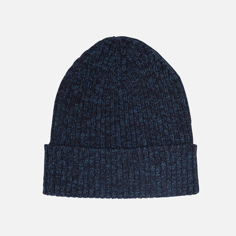 Adult's Wool Rib Beanie - Dark Navy Melange