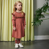 Merino Wool Dress - Coral