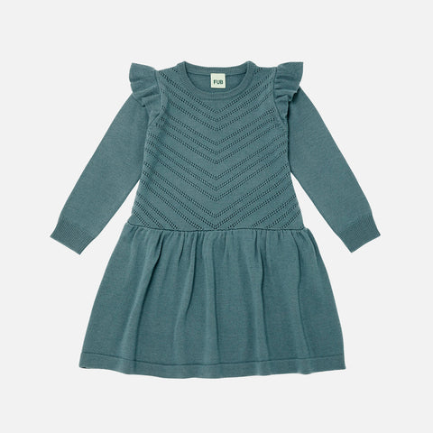 Merino Wool Dress - Ocean