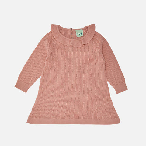 Merino Wool Baby Dress - Blush