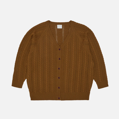 Women's Merino Wool Cable Cardigan - Sienna