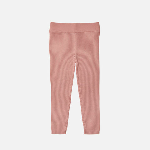 Merino Wool Fine Leggings - Blush
