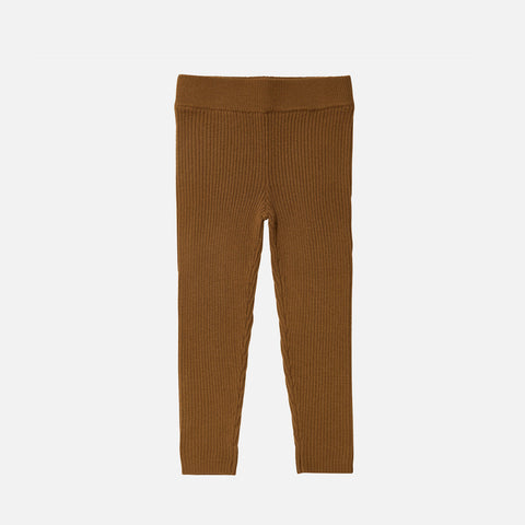 Merino Wool Fine Leggings - Sienna