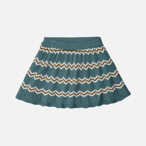 Merino Wool Skirt - Ocean