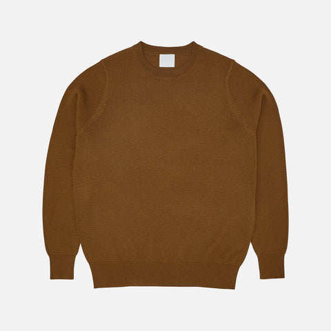 Women's Merino Wool Rib Sweater - Sienna
