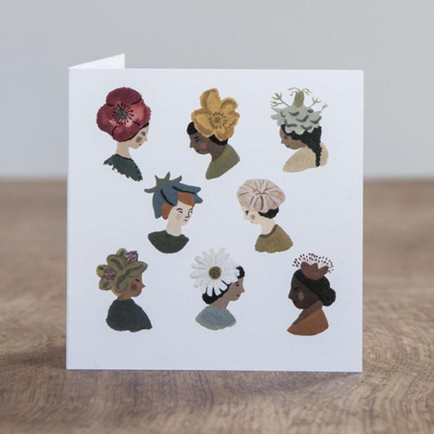 Greeting Card - Fine Flower Hats