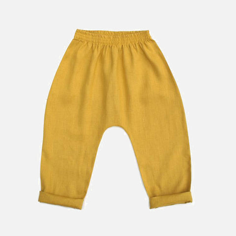 Linen Coop Trousers - Goldenrod