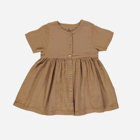 Organic Cotton Guarana Dress - Brown Sugar