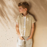 Cotton Hand Woven Nadav SS Shirt - Yellow Stripe
