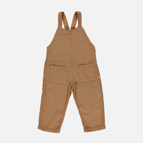 Organic Cotton Kiwi Dungarees - Brown Sugar