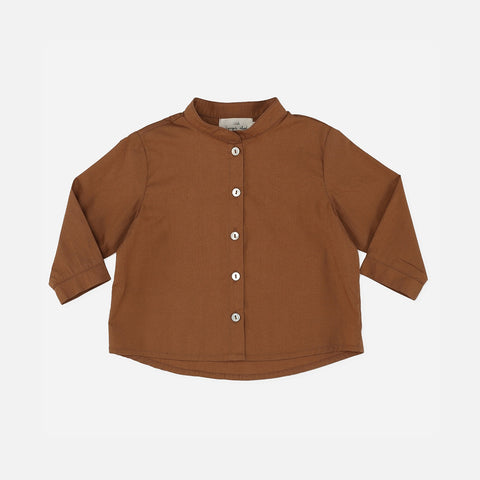 Organic Cotton Visno Shirt - Caramel
