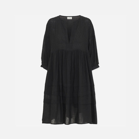 Women's Organic Cotton Priya Dress - Black