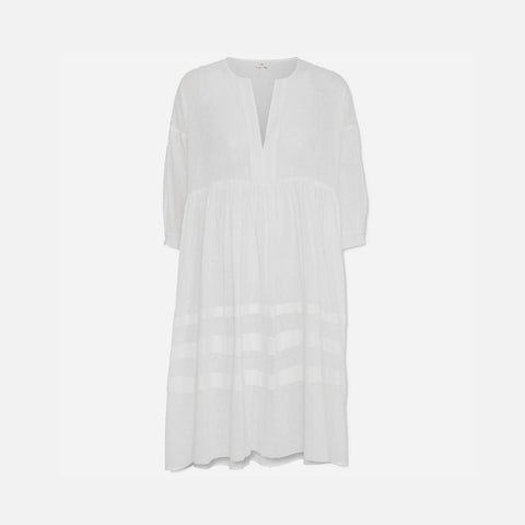 Women's Organic Cotton Priya Dress - White