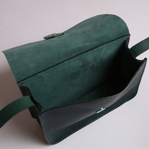 Leather Tab Bag - Petrol
