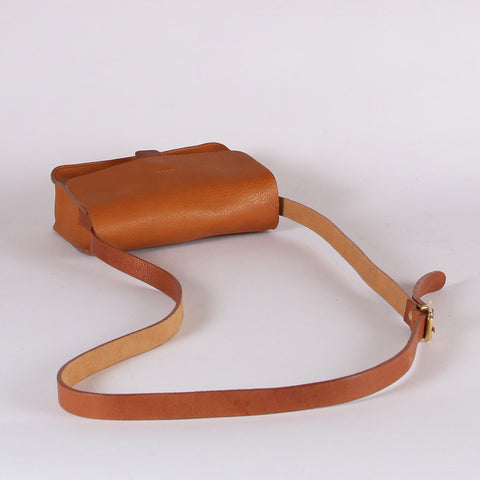 Leather Tab Bag - Faggio