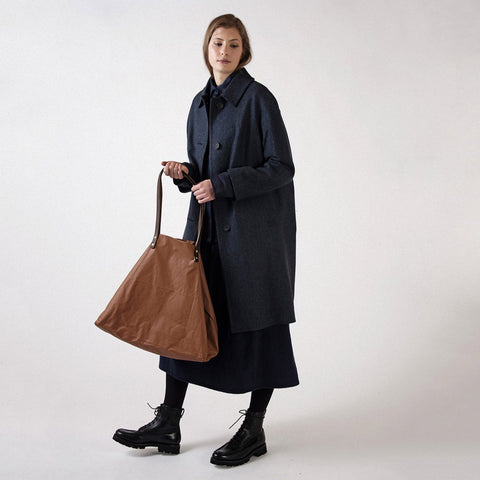 Waxed Cotton Giga Tote - Amber