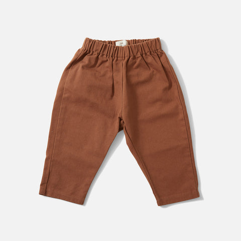 Organic Cotton Adine Pants - Faded Brown