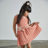 Cotton Hand Crocheted Ever Dress- Coral