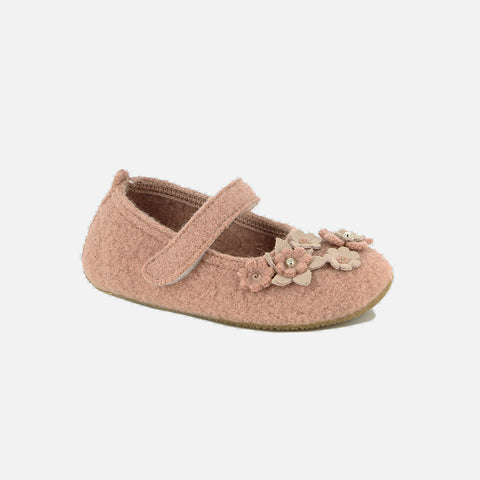 Wool Ballerina Slipper Shoe - Woodrose