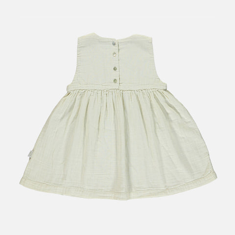 Organic Cotton Matcha Dress - Almond Milk