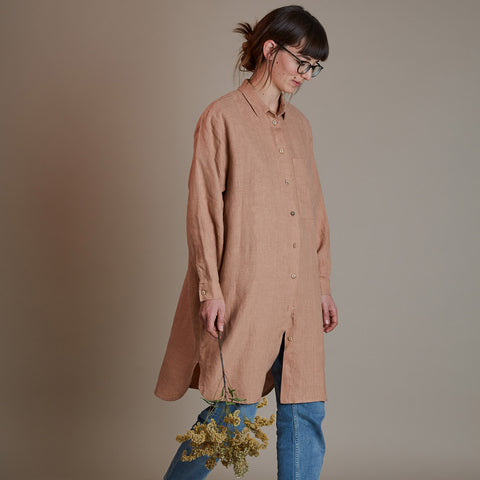 Women's Linen Pepi Shirtdress - Misty Rose
