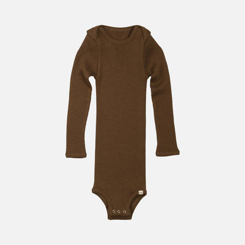 Merino Alaska Long Sleeve Body - Cinnamon