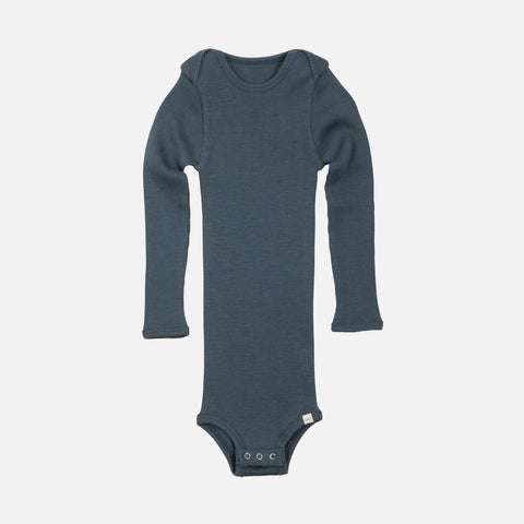 Merino Alaska Long Sleeve Body - Thunder Blue