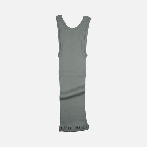 Adult Silk/Cotton Rib Tank Top - Pale Jade