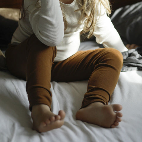 Organic Cotton Nice Leggings - Amber