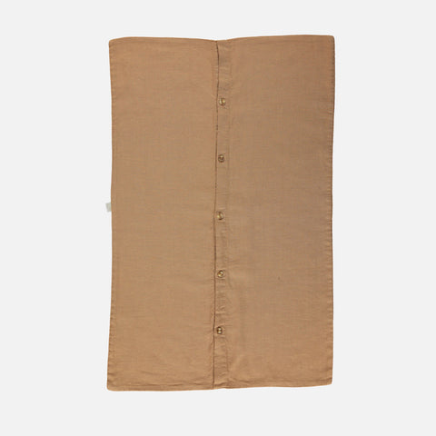 Linen/Cotton Muslin Pillow Case - Brown Sugar - Various Sizes