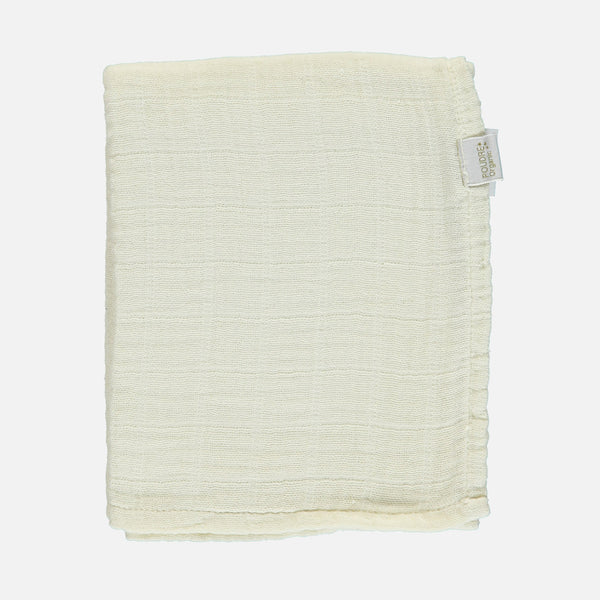 Organic Cotton Small Muslin/ Kids Scarf - Almond Milk