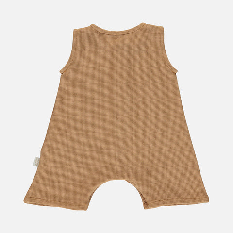 Organic Cotton Poivre Romper - Brown Sugar