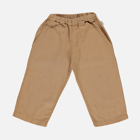 Linen/Cotton Pomelos Pants - Brown Sugar