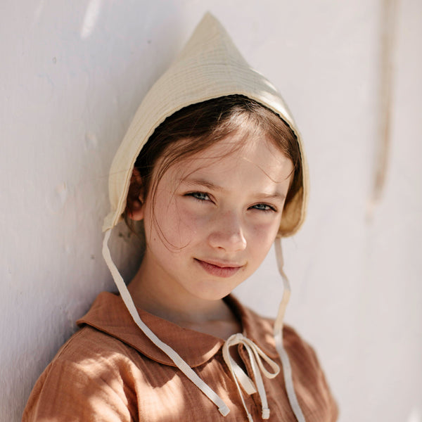 Organic Cotton Pixie Bonnet - Honey