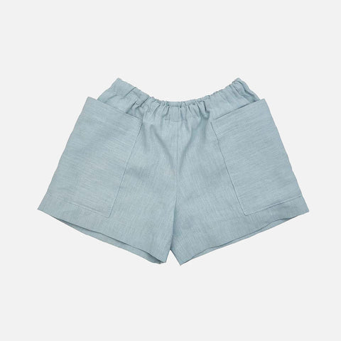 Linen Pocket Shorts - Sage