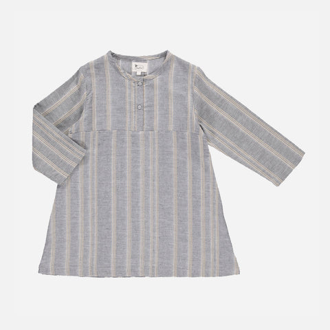 Organic Cotton Rajasthan Kurta - Grey Stripes